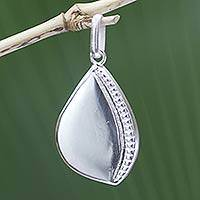 Sterling silver pendant, 'Prosperity' (large) - Sterling Silver Pendant (Large)