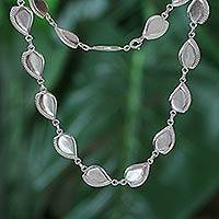 Sterling silver link necklace,