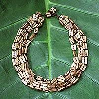 Bamboo multi-strand necklace,
