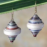 Featured review for Recycled paper dangle earrings, Berries