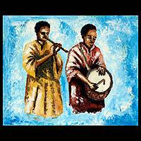 'Royal Musicians' - African Modern Art Painting