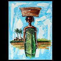 'Sister Ama' - Original African Fine Art Painting