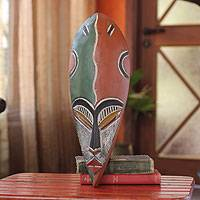 African wood mask, 'Marsona' - Nigerian Wood Mask