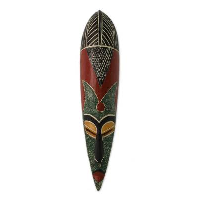 African wood mask, 'Sunsum' - African wood mask