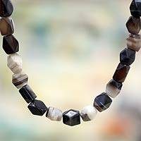 Agate beaded necklace, 'Lady of Kasoa' - Agate beaded necklace