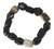 Agate beaded bracelet, 'Akan Delight' - Hand Crafted Beaded Agate Bracelet (image 2a) thumbail