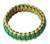 Bangle bracelet, 'Queen Amina in Gold and Green' - Bangle Bracelet from Africa (image 2a) thumbail