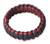 Bangle bracelet, 'Queen Amina in Navy and Wine' - Braided Cord Bangle Bracelet (image 2a) thumbail
