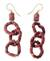 Bauxite dangle earrings, 'Ghanaian Unity' - Bauxite dangle earrings (image 2a) thumbail
