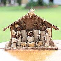 Wood nativity scene, 'Holy Birth'