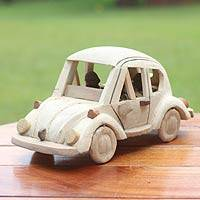 Wood sculpture, 'Classic Car' - Wood sculpture
