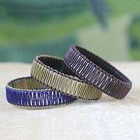 Linen bangle bracelets,