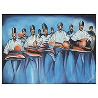 'Royal Troupe' - Expressionist Acrylic Painting