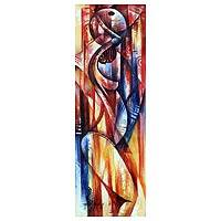 'Power of a Woman' - Cubist Painting from Africa