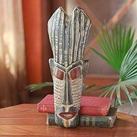 Cameroon wood mask, 'Judicial Authority' - African Cameroonian Wood Mask