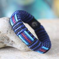 Men's wristband bracelet, 'Legends of Africa' - Men's Artisan Crafted Wristband Bracelet
