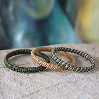Bangle bracelets, 'Hidden Treasures' (set of 3) - Bangle bracelets (Set of 3)