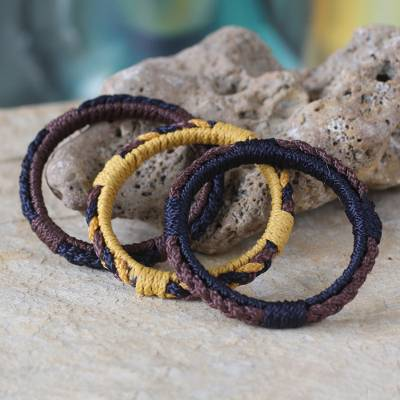 Bangle bracelets, Earth Akan Enigma (set of 3)