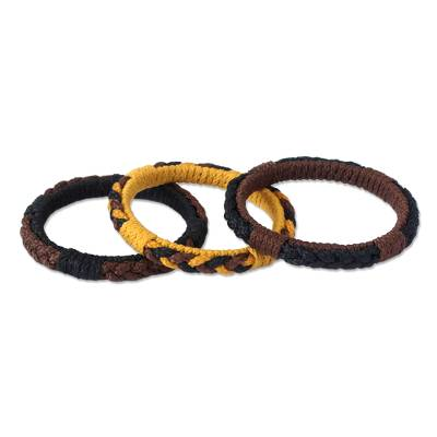 Hand Crafted Bangle Bracelets (Set of 3)
