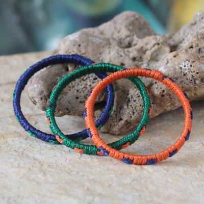 Bangle bracelets, 'Akan Belle' (set of 3) - Bangle bracelets (Set of 3)