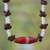 Agate beaded necklace, 'Remember Me' - Agate beaded necklace thumbail