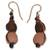Recycled bead dangle earrings, 'Peach Allure' - Modern Recycled Glass Bead Earrings (image 2a) thumbail
