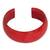 Leather cuff bracelet, 'Annula in Red' - Leather Cuff Bracelet (image 2a) thumbail