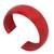 Leather cuff bracelet, 'Annula in Red' - Leather Cuff Bracelet (image 2b) thumbail