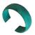Leather cuff bracelet, 'Annula in Sea Green' - Fair Trade Leather Cuff Bracelet (image 2b) thumbail