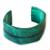 Leather cuff bracelet, 'Wend Konta in Mint' - Handcrafted Leather Cuff Bracelet (image 2a) thumbail