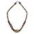 Bone beaded necklace, 'Multicolor Laafi' - Bone beaded necklace (image 2a) thumbail