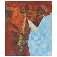 'Tunes' - Original Modern Painting from Africa