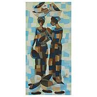 'Togetherness I' - Original Painting from Ghana