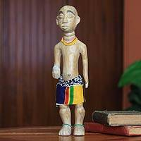 Wood sculpture, 'Birthday Boy' - Wood sculpture