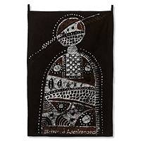 Batik wall hanging, 'Womanhood' - Batik wall hanging