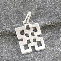Sterling silver pendant, 'Excellence' - Sterling silver pendant