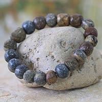 Soapstone stretch bracelet,