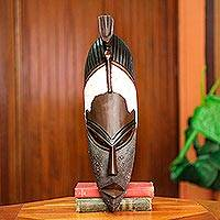 African wood mask, 'Onukpa' - Hand Carved Wood African Tribal Mask