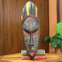 African wood mask, 'Ashanti Donkor' - Hand Carved African Mask