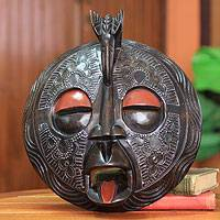 African wood mask, 'Sankofa' - African wood mask