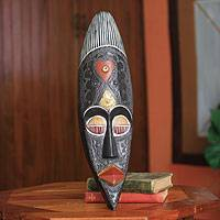 African mask, 'Love' - Artisan Crafted African Mask from Ghana