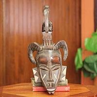 African mask, 'Senufo Kalao Bird' - Artisan Crafted African Mask