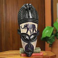 Featured review for Ghanaian wood mask, African Elephant Spirit II