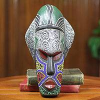 African beaded wood mask, 'Landa'