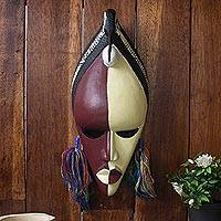 African mask, 'Sankofa Bird' - Authentic Sese Wood African Mask