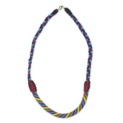Artisan Crafted Braided Necklace African Jewelry