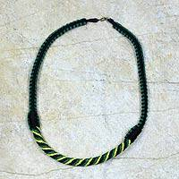 Braided necklace,