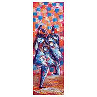 'Damba Takai Dance I' - Colorful African Dancers Painting