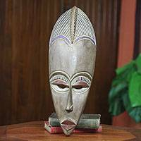 African mask, 'Ewe Linguist' - Hand Carved African Mask