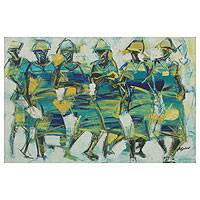 'Blue Parade II' - Expressionistic Portrait of Ghanaian Women